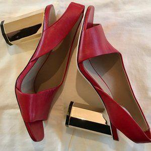 DONALD J. PLINER Ella slingback red heels | 7M